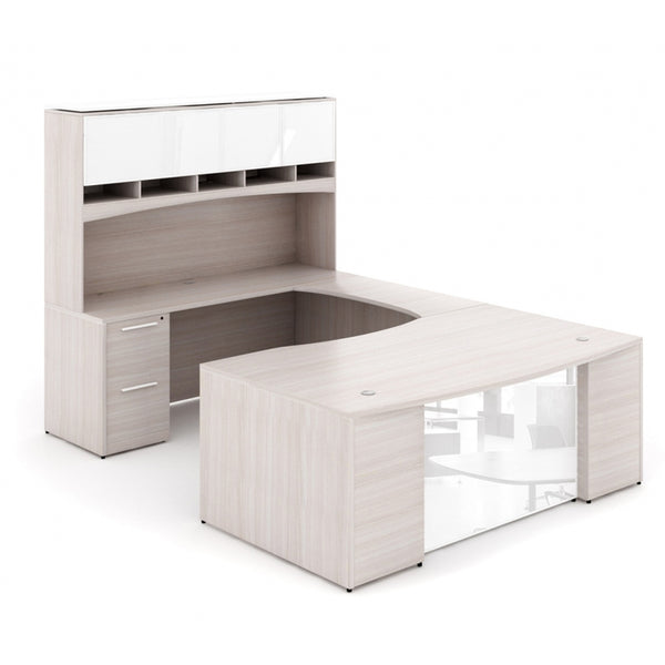 Corp Design U-Shaped Bow Front Desk with Modesty Panel