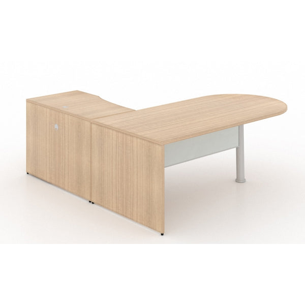 Corp Design L-Shaped Bullet End Desk