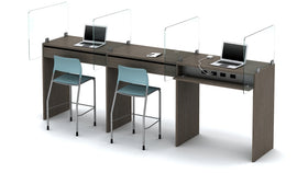 AIS Calibrate Standing Height 3-Person Workstation Typical
