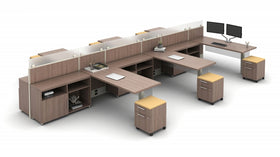 AIS Divi 6 Workstations with Mobile Pedestal