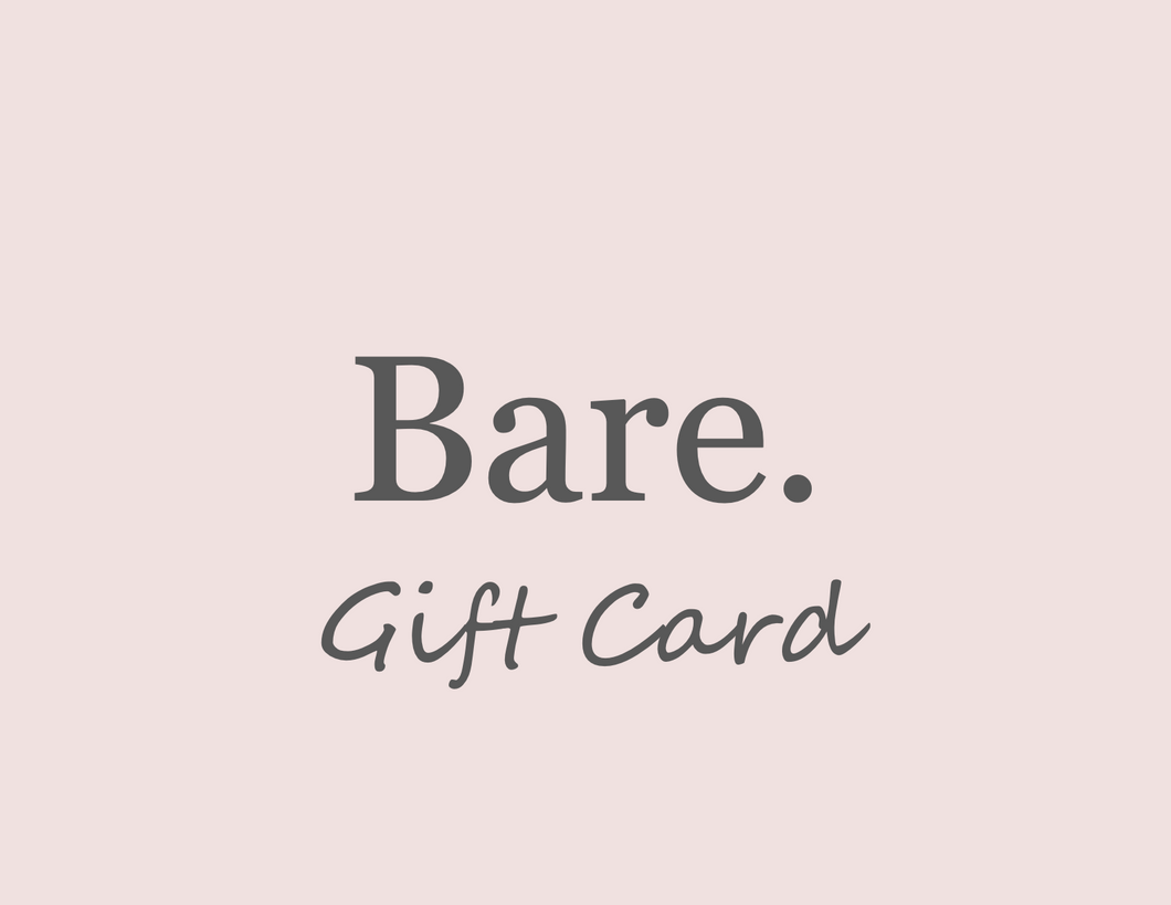 Bare. Gift Card