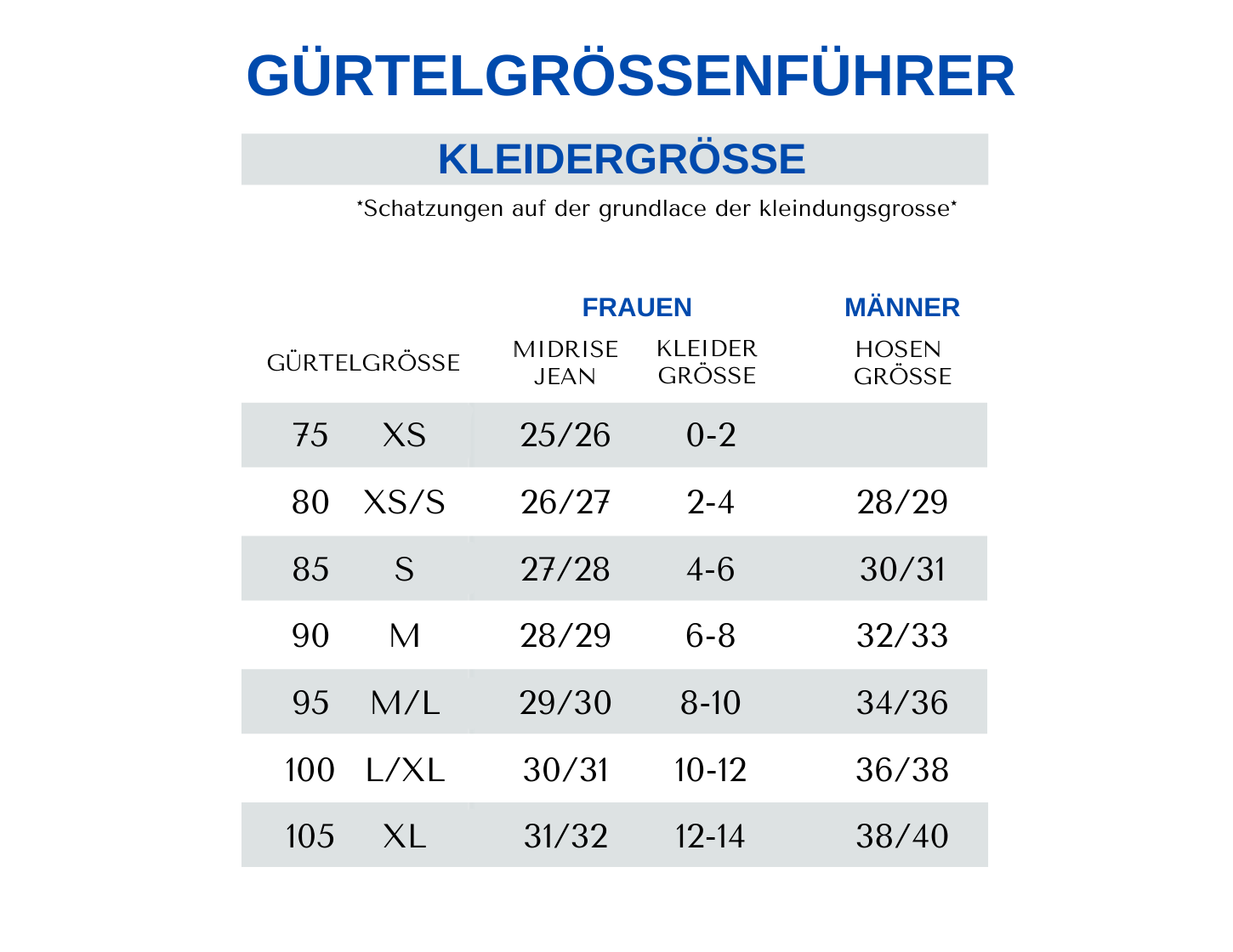amsterdam heritage german size chart