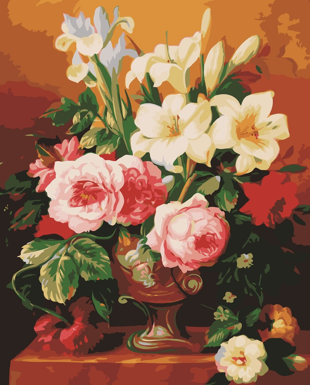 DIY Painting By Numbers - Lily and Peony