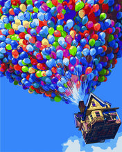 Load image into Gallery viewer, DIY Painting By Numbers - Colorful Balloon in Sky