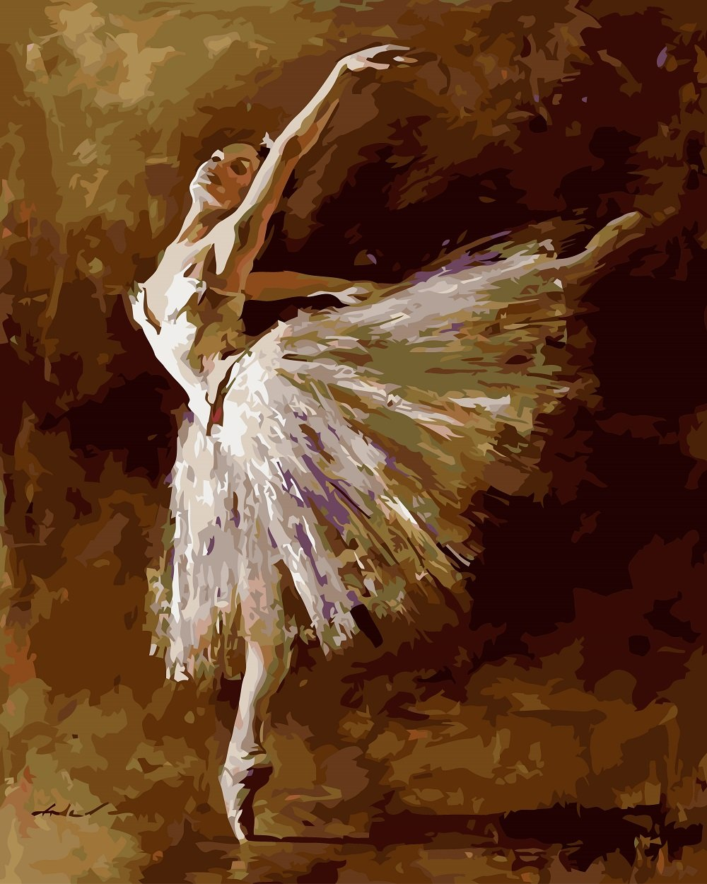 DIY Painting By Numbers - Abstract Ballet Dancer