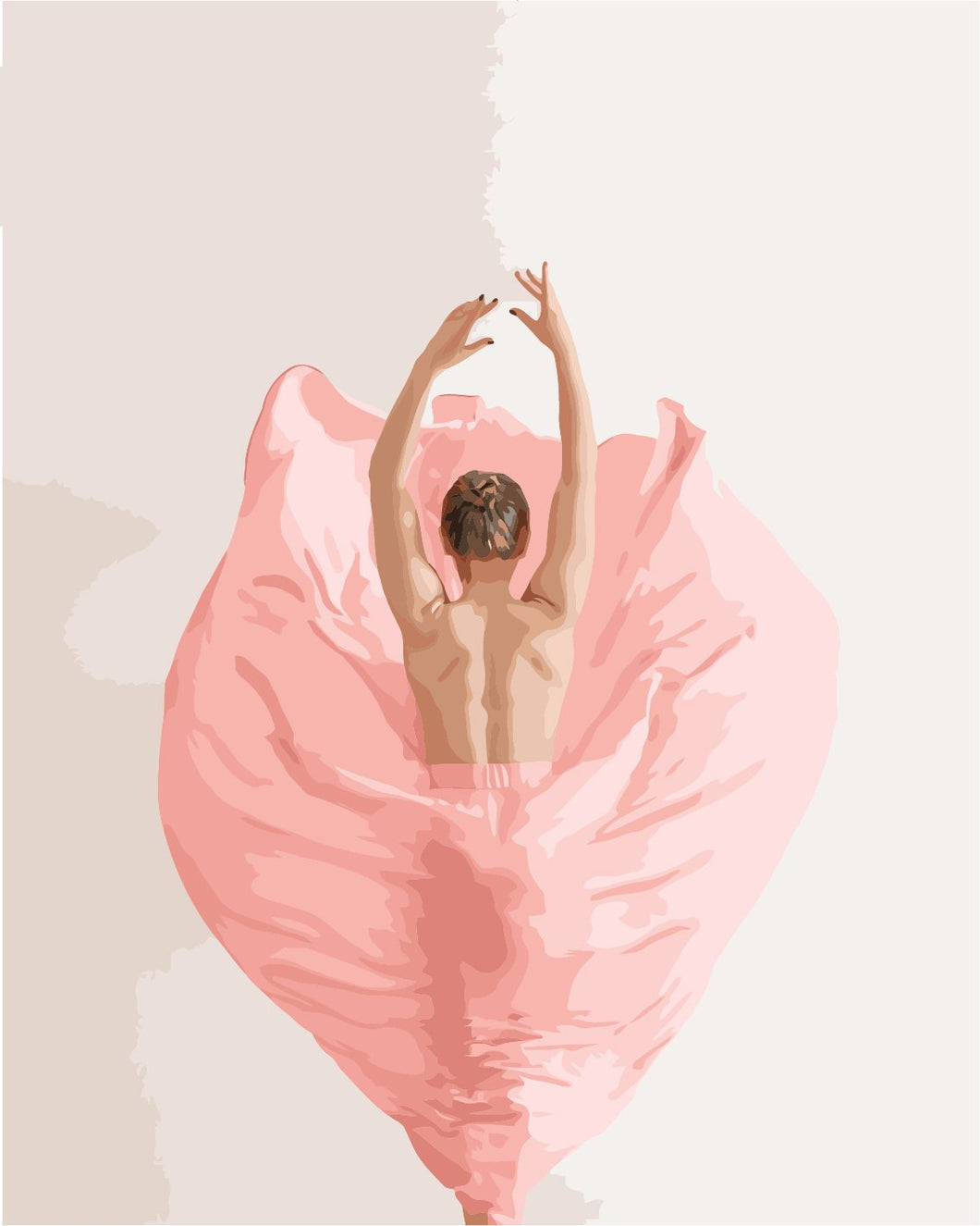 DIY Painting By Numbers - Pink Ballet Girl