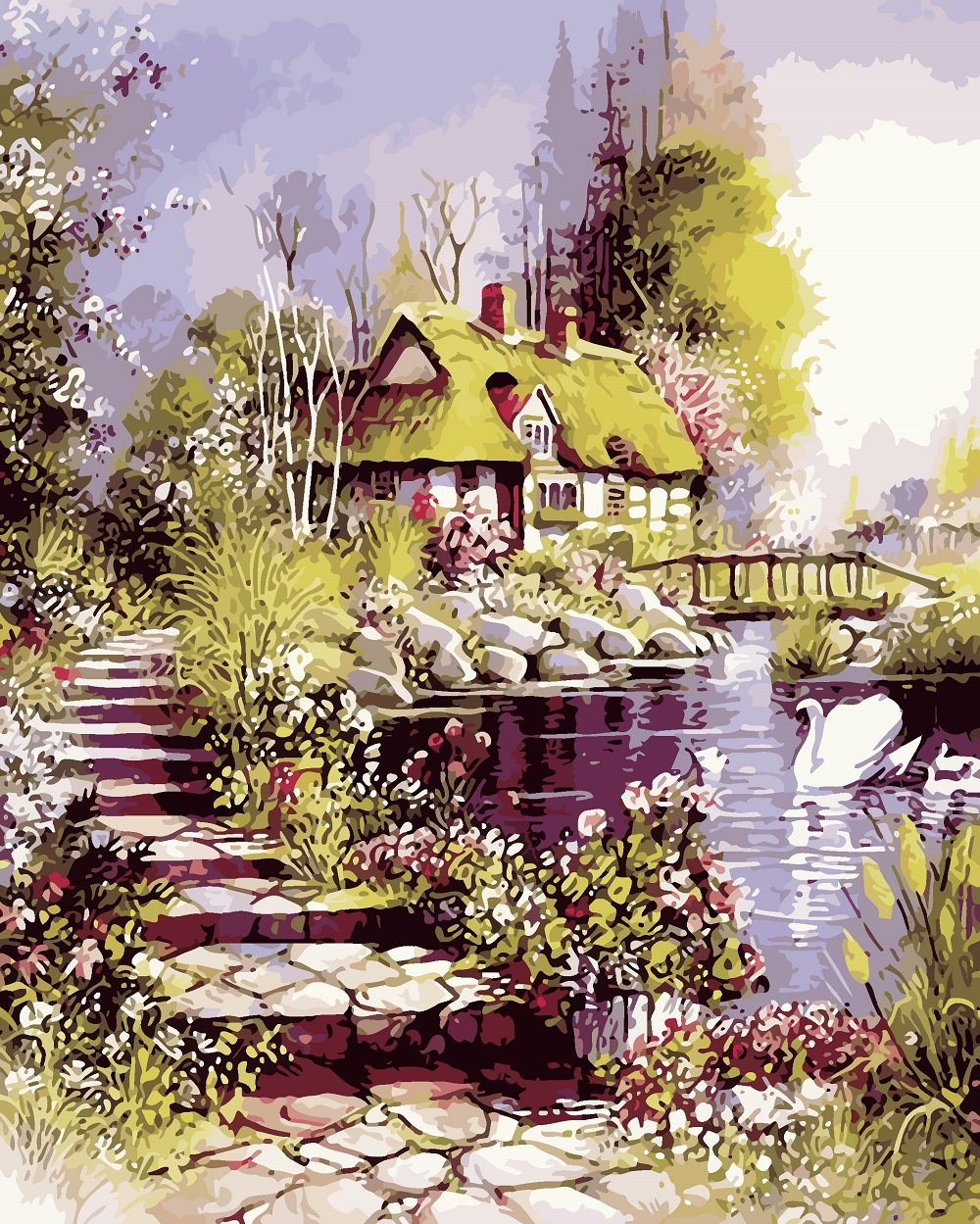 DIY Painting By Numbers - Path and House