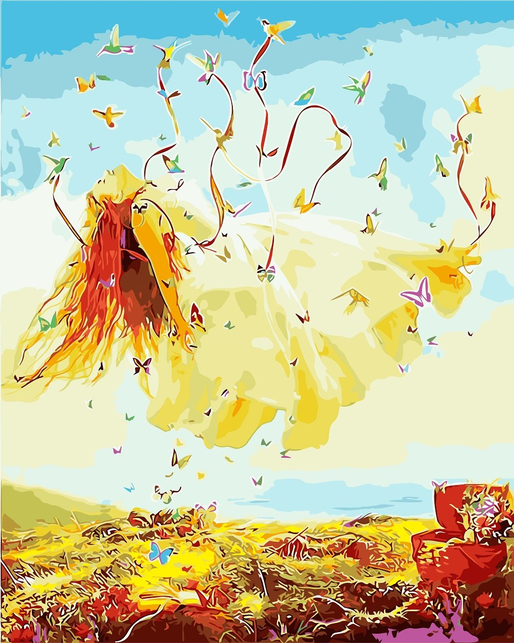 DIY Painting By Numbers - Butterfly Girl