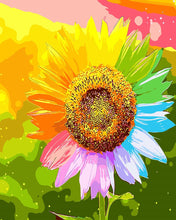 Load image into Gallery viewer, DIY Painting By Numbers -Colorful Sunflower