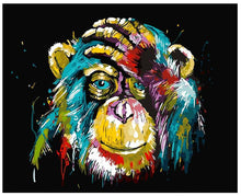 Load image into Gallery viewer, DIY Painting By Numbers - Colorful Gorilla