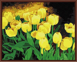DIY Painting By Numbers - Yellow Tulip