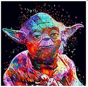 DIY Paint by Numbers Kits - Portrait Yoda