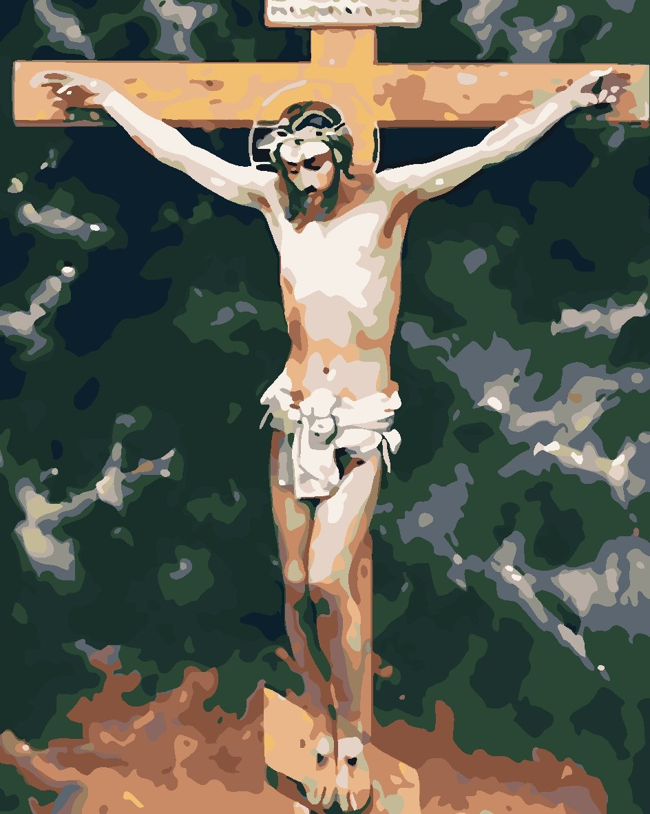 Paint by Numbers -Crucifix