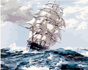 Paint by Numbers -Vessel Getting Stormy