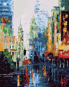 Painting DIY by Numbers Kits - Abstract Street