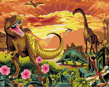 Load image into Gallery viewer, Paint by Numbers -Dinosaur Paradise