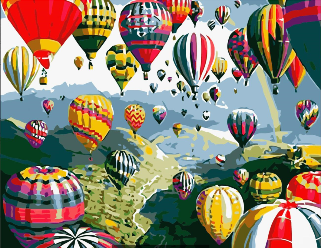 Paint by Numbers Set- Balloons Party