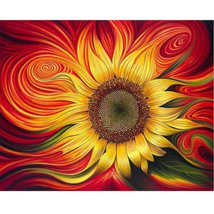 DIY Painting by Numbers - Beautiful Sunflower