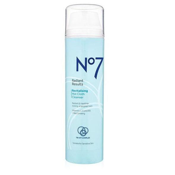 No7 Radiant Results Revitalising Hot Cloth Cleanser 200ml