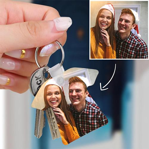 Custom Photo Keychain Memorial Gift T-shirt Shape Decorations