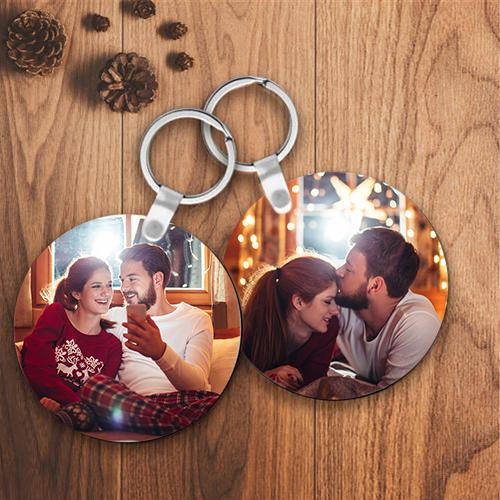 Personalized Keychain Custom Round Photo Keychain