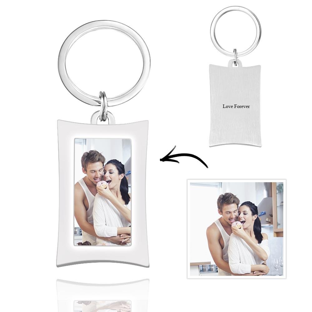 Rectangle Photo Keychain Personalized Gift Alloy