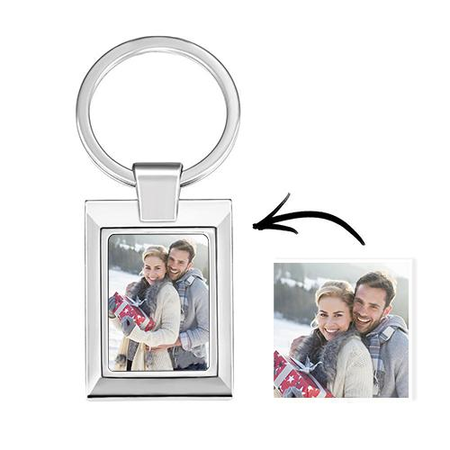Customized Square Photo Keychain Personalized Gift Alloy