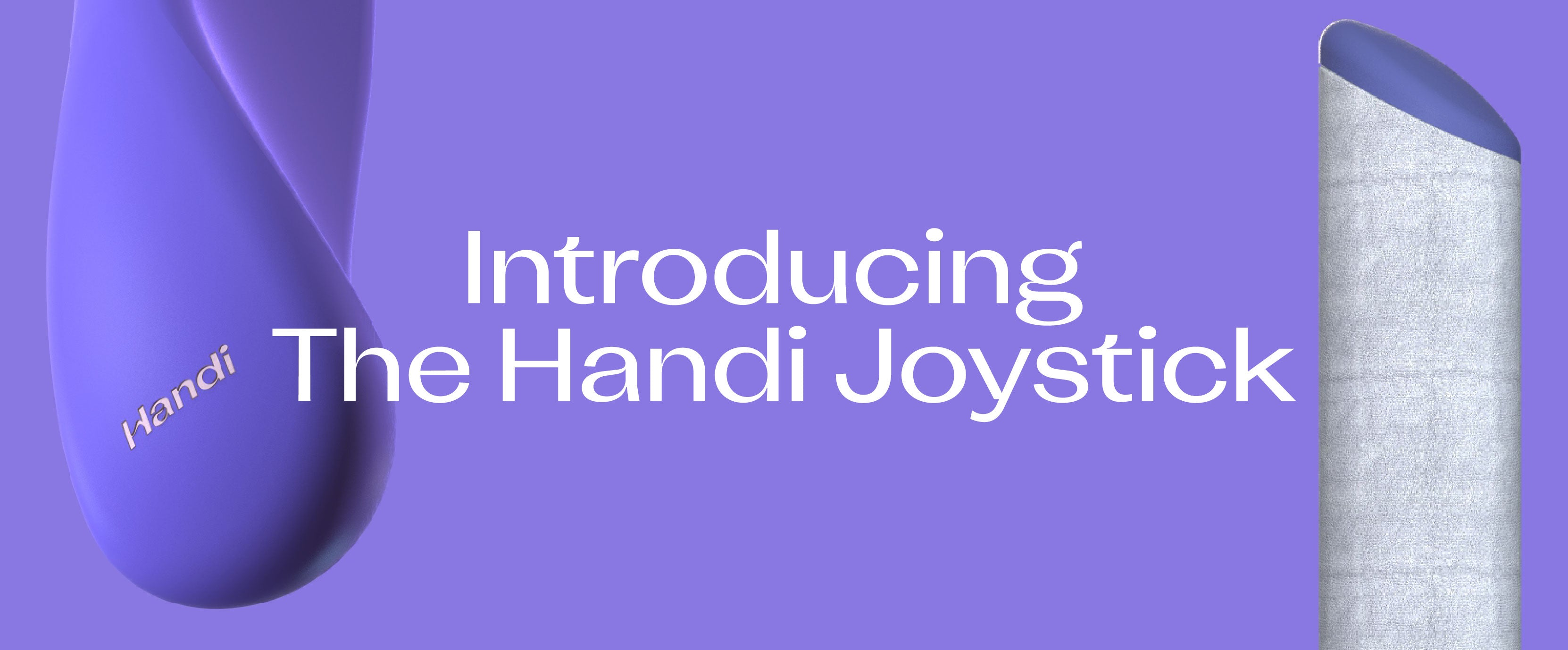 The Handi Joystick Prototype on a purple background