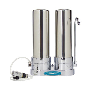 Crystal Quest® Lead Countertop Water Filter System-Stainless Steel