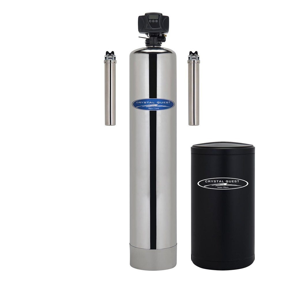 WS Whole House Water Softener With Pre/Post Filtration-Stainless Steel ● 2 CQE-WH-01126