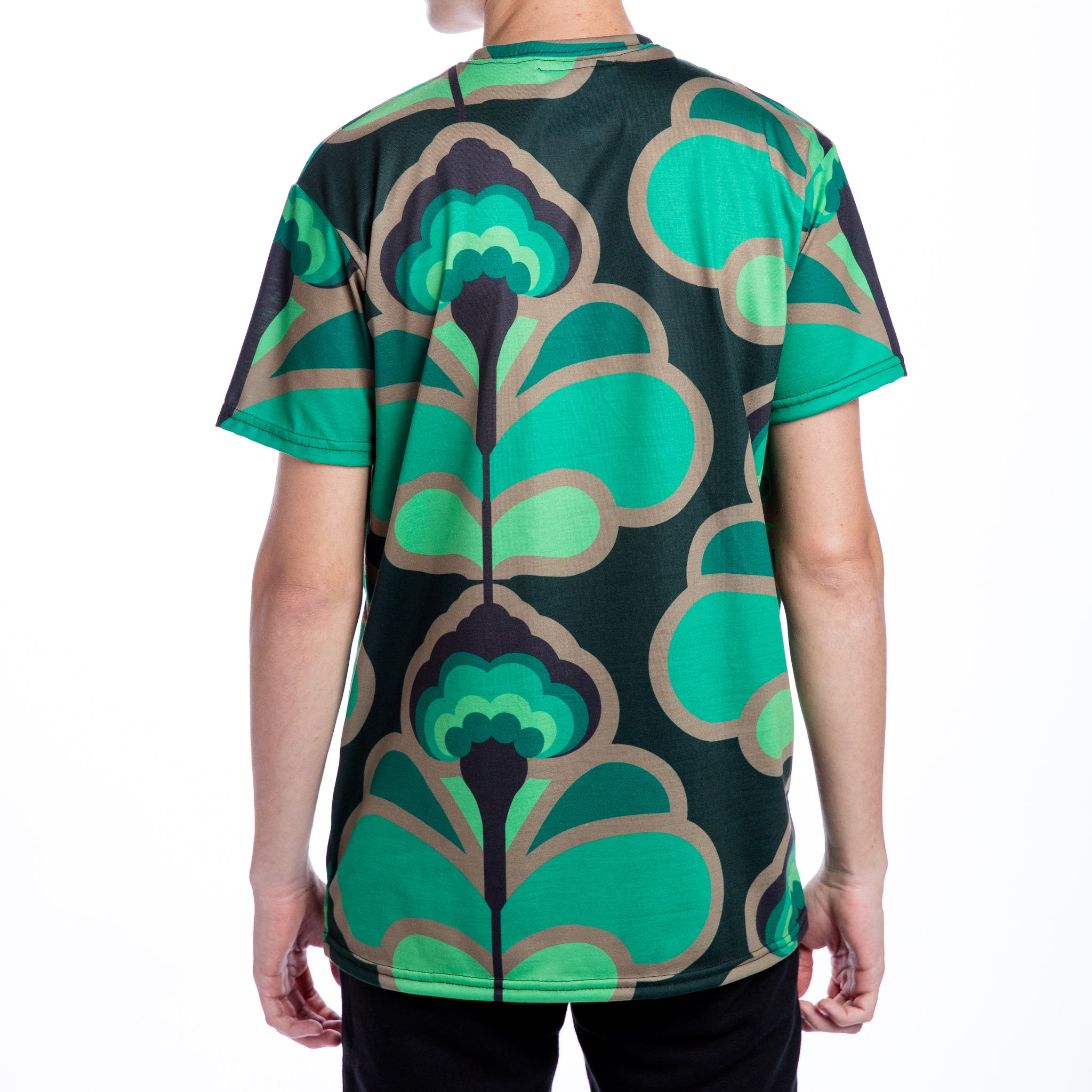 Green Flowers Men T Shirt