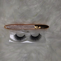 Unique Faces Lashes #60 w/ 2-n-1 Adhesive /Eyeliner Pen