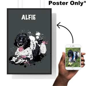 Personalised pet poster. Make your beautiful pet into a work of art! Perfect as a memorable gift to yourself, your pet or a loved one! Designed by Professional Artists, printed onto Museum Grade Paper!  The perfect home decor accessory for every pet owner! Custom pet poster. Custom pet poster.
