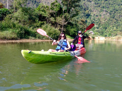 Kayaking in Vang Vieng, Laos.