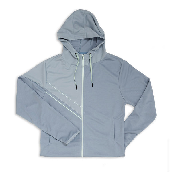 Men's Asymmetric Zipper Hoodie - Forever Blue