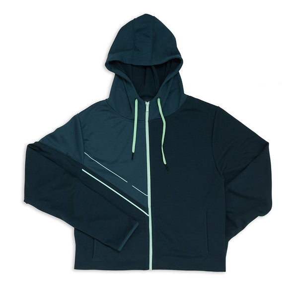 Men's Asymmetric Zipper Hoodie - Orion Blue