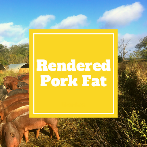 Pork - Rendered Pork Fat - 16 oz - Gunthorp Farms