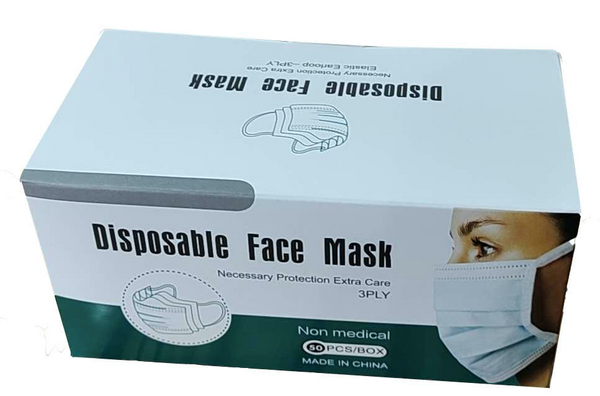 50 masques de protection jetable en 3 couches