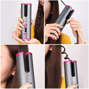 CurlyQueen Cordless USB Rechargeable Hair Curling Device