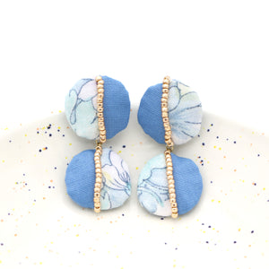 Patchwork Drop Studs (Misty Meadow)