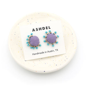 Collage Mismatched Studs (Lavender)