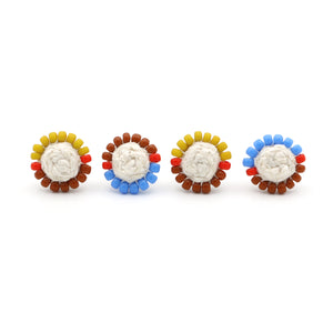 Woven Studs and Bracelet Set (Desert)