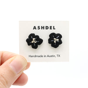 Flower Bud Studs (Black)