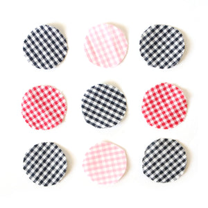 Long Dangle Drop Studs (Gingham Patchwork)