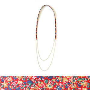 Fabric Loop Necklace (Lotus)