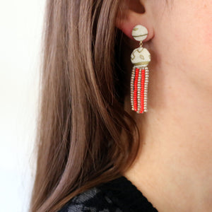 Beaded Drop Studs (Ocotillo de Oro)