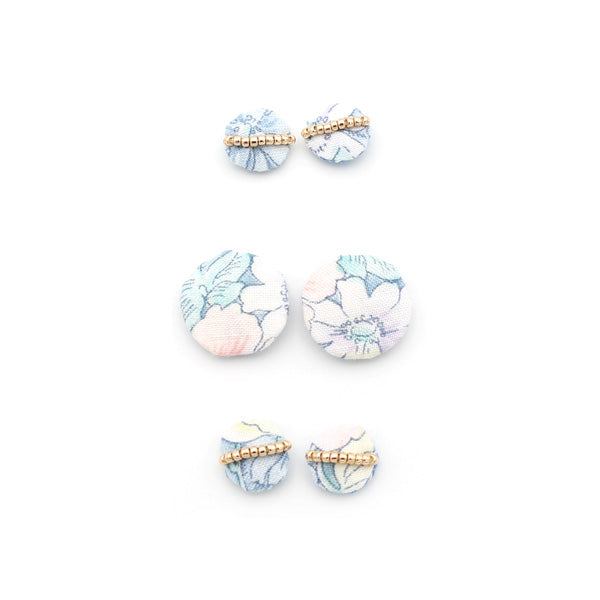 Floral Beaded Studs (Misty Meadow)