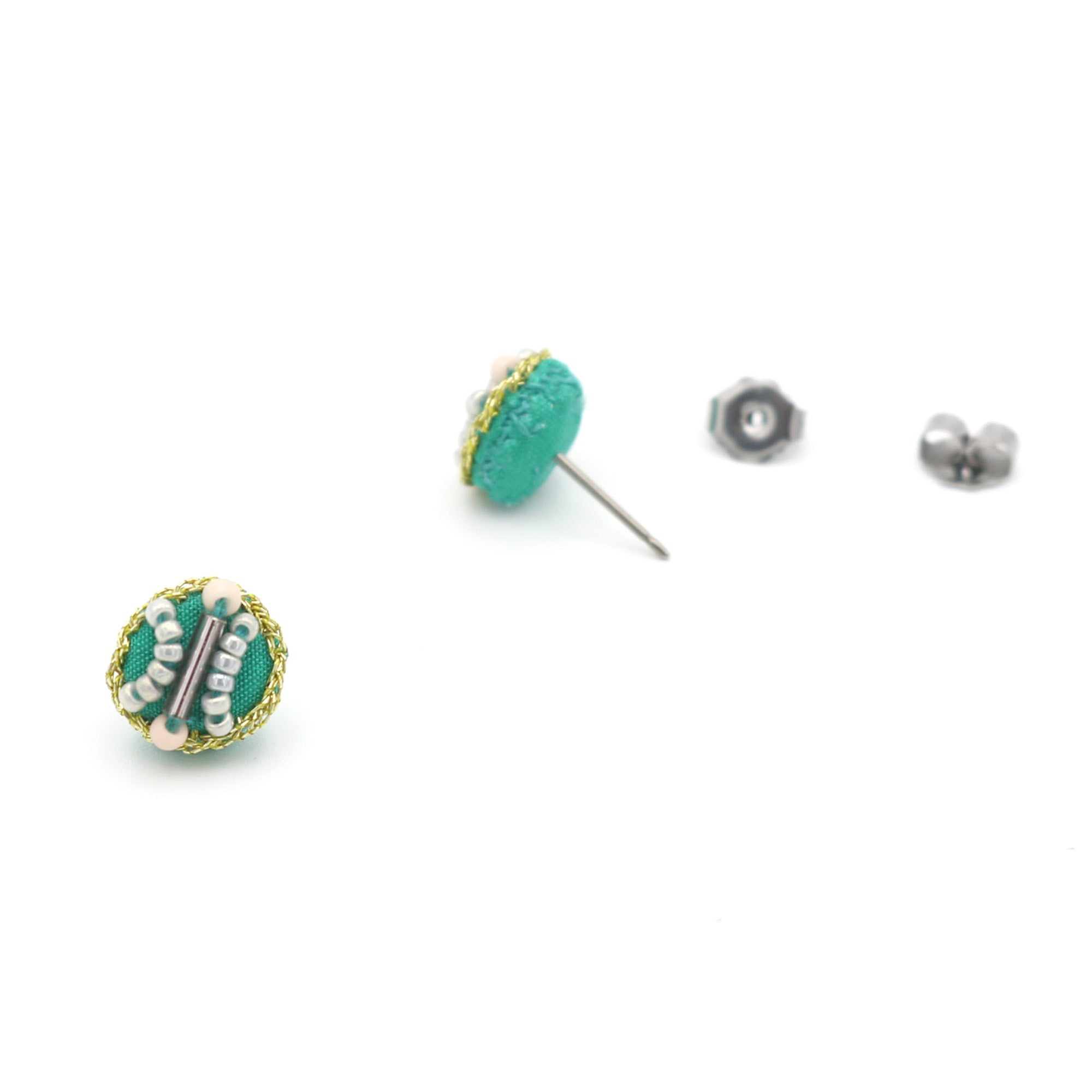 Collage Studs (Jade)