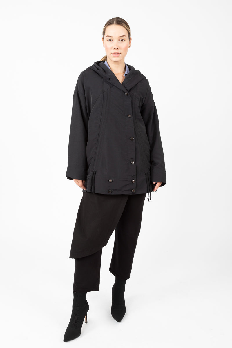 Moth Raincoat in Black