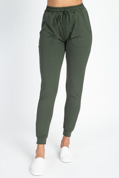 Olive Stretch Joggers